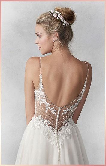 doorzichtige rug bruidsjurk